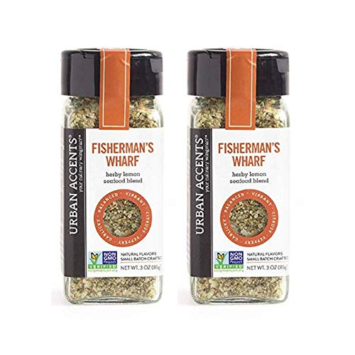 Urban Accents Fisherman's Wharf Herby Lemon Seafood Blend 3 Oz ( Pack of 2)