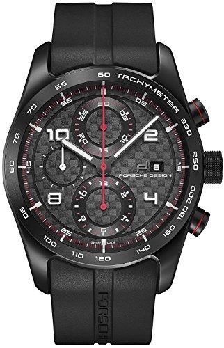 Porsche Design Chronotimer Series 1 Automatic Watch, Black-red