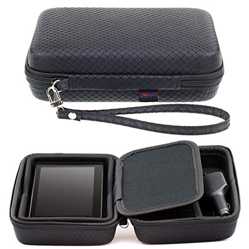 Digicharge Black Hard Carrying Case for Garmin Drive DriveSmart 60LM 60LMT 61LMT-S 61LM RV 660LMT Nuvi 68 67 68LM 67LM 2639LMT 2639 Fleet 670 660 GPS Sat Nav with Accessory Storage and Lanyard -
