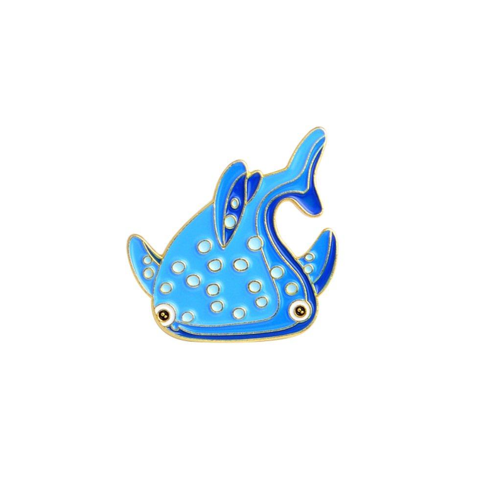 856store Ocean Style Brooch Pin Cartoon Fish Sea Horse Dolphin Badge Denim Coat Decor XZ1200