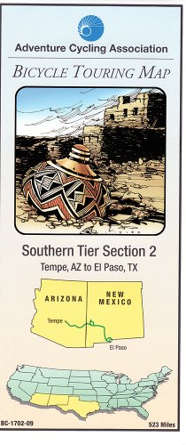 Bicycle Touring Map - Southern Tier #2, Tempe, AZ to El Paso, TX (Cycling Maps)
