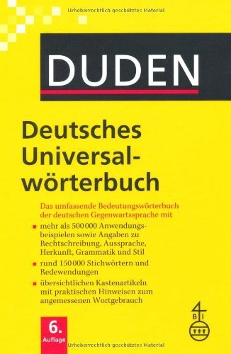 Duden - Deutsches Universalwörterbuch - Buch plus CD: Das umfassende Bedeutungswörterbuch der deutschen Gegenwartssprache von Dudenredaktion (Herausgeber) (20. Oktober 2006) Gebundene Ausgabe