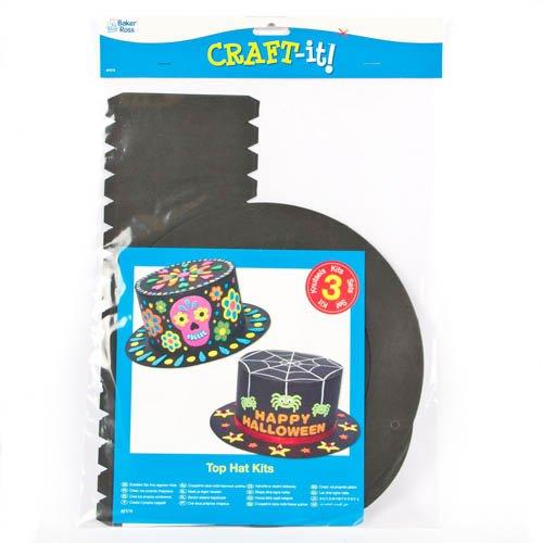 7a8f5fa149cf9 Baker Ross Kits para Crear Sombreros Negros de Halloween Que los niños  Pueden Decorar y Usar (Pack de 3).  Amazon.es  Juguetes y juegos
