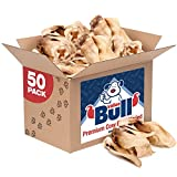 ValueBull Premium Cow Ears, Varied Shapes, 50 Count - Angus Beef Dog Chews, Grass-Fed, Single Ingredient