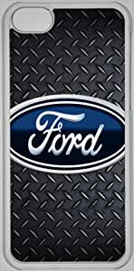 diy phone case5C hard shell Ford logo car logo with Metallic-texture background ipod touch 5 case (PC material) car logo Transparent iphone accessories designed by micasediy phone case
