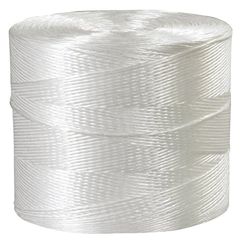 Boxes Fast Polypropylene Tying Twine, 1-Ply, 110 lb, White, (1 Roll of 10500') by Boxes Fast