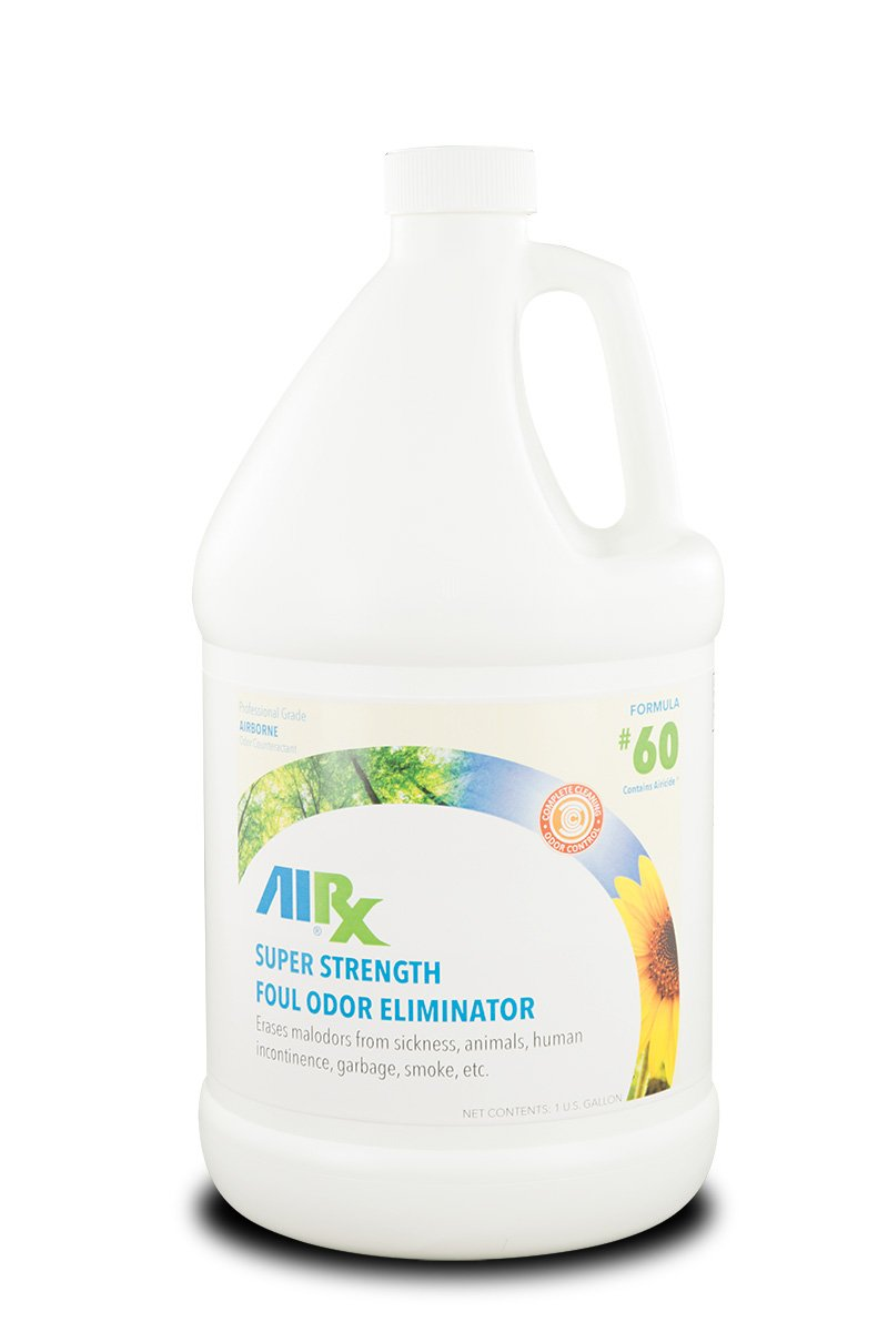 Airx RX 60 Super Strength Foul Odor Eliminator, 1 Gallon Bottle, Clear Straw