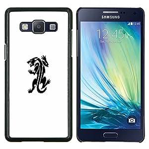 Tattoo Ink Monster Decal Blanca- Metal de aluminio y de plástico duro Caja del teléfono - Negro - Samsung Galaxy A5 / SM-A500