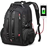 Large Laptop Backpack,TSA Friendly Durable Travel Backpack with USB Charging Port for Men&Women,Big
