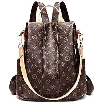 ac6ab66d61d Amazon.com: Casual Purse Fashion School Leather Backpack Crossbady ...