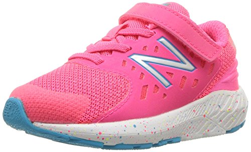New Balance Girls' Urge V2 FuelCore Running Shoe, Pink Zing/Polaris, 2 M US Infant