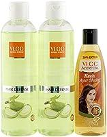 VLCC Silk Shine Shampoo (Buy 1 Get 1) and Ayurveda Hair Oil Combo