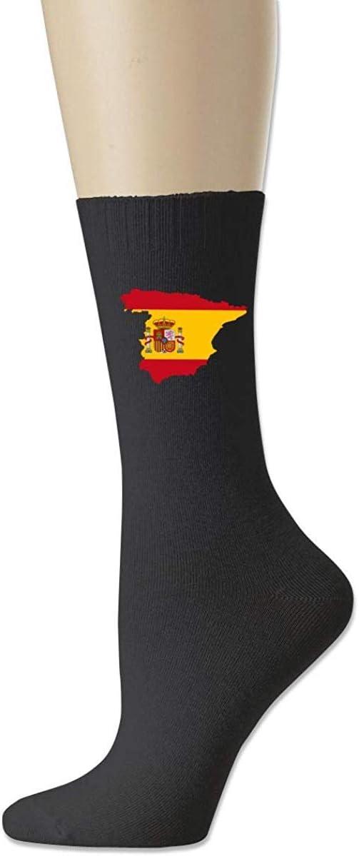 HNJZ-GS Hombres Mujeres Bandera de España Plaza De Col & oacute; n Bandera de Alemania Bandera Nacional Clásicos Algodón Calcetines Deportivos: Amazon.es: Deportes y aire libre
