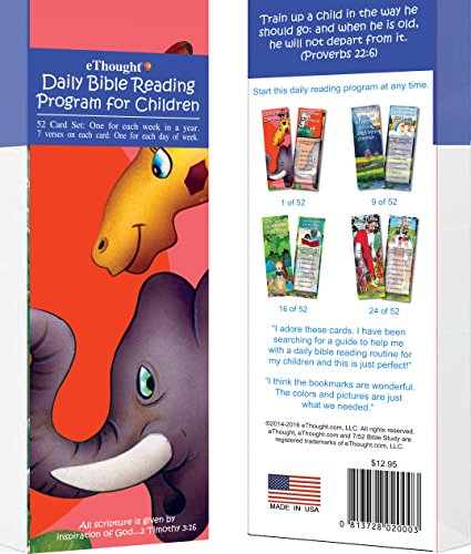 Daily Bible Reading Program for Children - 52 Card Set (One for Each Week of the Year)
