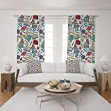 Best Bed  A Bag Sets   Students - 2 Panel Set Satin Window Drapes Living Room Review