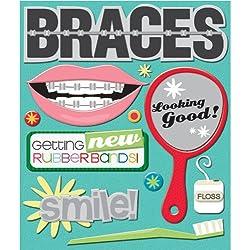 K&Company Braces Sticker Medley