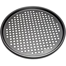 Nonstick Carbon Steel Pizza Tray Pizza Pan with Holes, 13 Inch