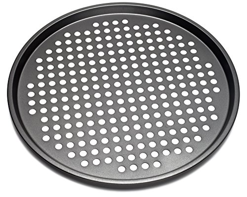 Nonstick Carbon Steel Pizza Tray Pizza Pan with Holes, 13 Inch (Pizza Pan Pizza Trays)