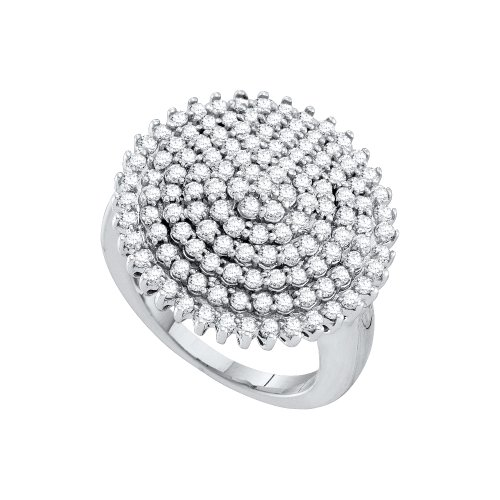 - Dazzlingrock Collection 2 Carat 10K Diamond Ladies Cluster Ring, White Gold, Size 8.5