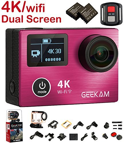 Action Camera 4K, 4K Action Camera Waterproof with Dual Screen Aluminium Alloy Front Cover Panasonic CMOS Wifi 2.4G Remote Control HDMI 170 Wide Angle Review