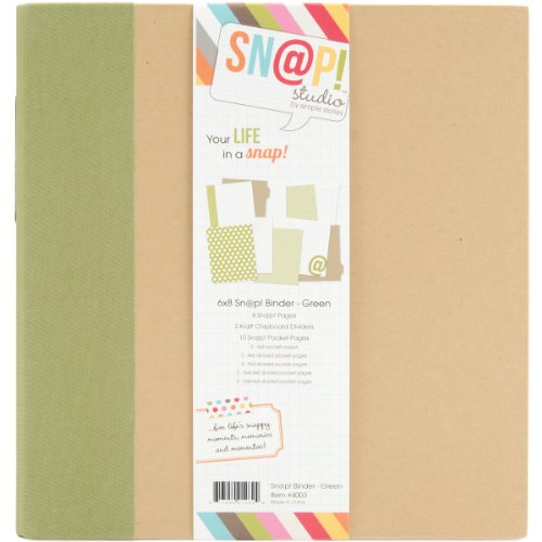 Simple Stories Snap Album, 6 by 8-Inch, Green (4003)