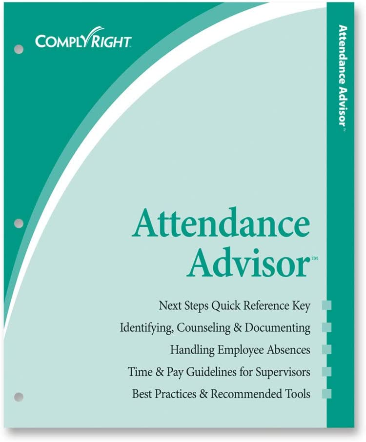 Pack of 25 White ComplyRight 2021 Attendance Calendar Card