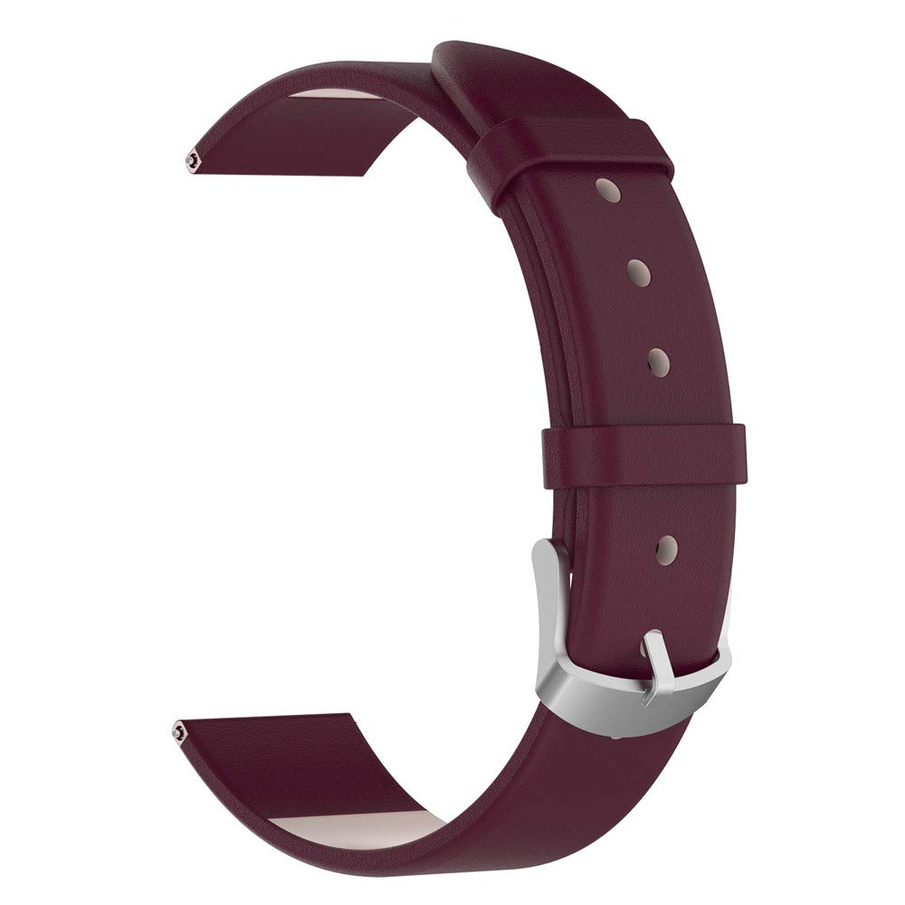 iumei Samsung Galaxy Smart Watch Band, Replacement Elegant Leather Wristband Strap Bracelet Bands for Samsung Galaxy Watch (42mm) (Purple)