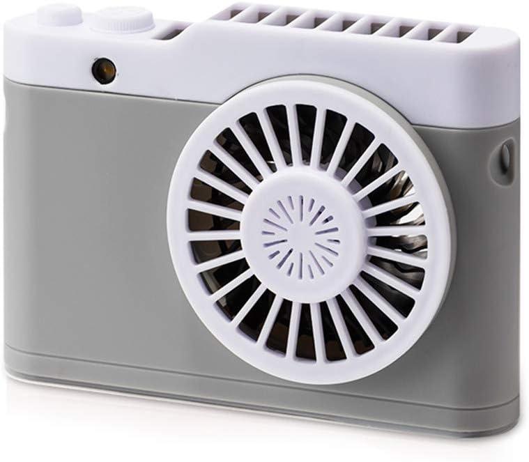 Elaco Portable USB Handheld Mini Fan Mini Rechargeable Cooling Fan Simulation Camera Shape Hanging Neck Style