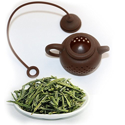Funnytoday365 Creative Silicone Tea Bag Tea Pot Shape Tea Filter Safely Cleaning Infuser by FunnyToday365 (Image #1)