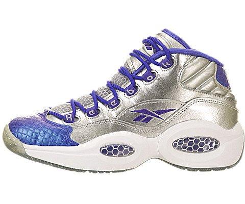Reebok Kids Unisex Question (Big Kid) Silver Metallic/Ultima Purple Shoe