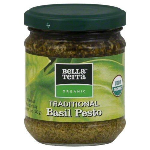 Bella Terra Organic Traditional Basil Pesto 6.3 oz - Pack of 6
