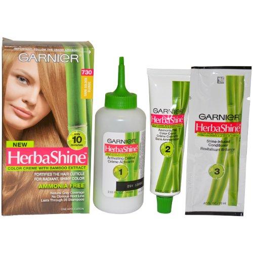 HerbaShine Creme Couleur à l'extrait de bambou n ° 730 noir Golden Blonde par Garnier pour unisexe