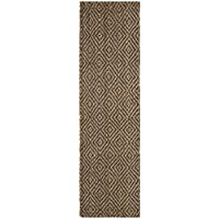 Safavieh Natural Fiber Collection NF181D Natural and Grey Runner, 23 x 10