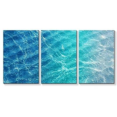 for Living Room Bedroom Home Artwork Blue Ocean Sea Paintings x 3 Panels, Top Quality Design, Marvelous Object of Art