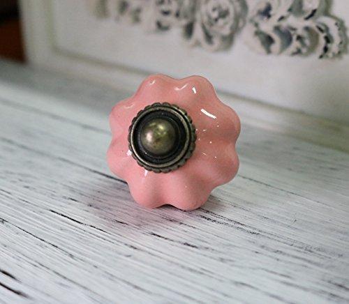 10pcs Pink Cabinet Ceramic Knobs Baby room Handles Dresser Closet Kids Bedroom Furniture Hardware