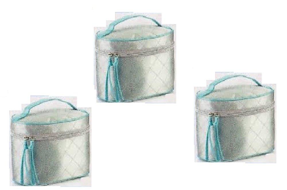 3 x Avon plata & azul Polysatin bolsa de aseo: Amazon.es ...