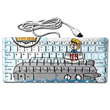 Submarine With Cute Skipper Portable Whisper-Quiet 78Key Wired Usb Ultrathin Mini Keyboard
