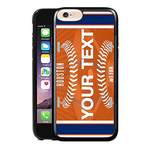 - BRGiftShop Customize Your Own Baseball Team Houston Rubber Phone Case for Apple iPhone 6 Plus & iPhone 6s Plus 5.5 Inches Screen