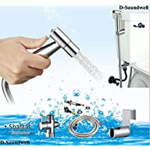 D-Soundwell CleanStar Luxury Hand Held Bidet Shattaf Sprayer, Silver,shower head, Hand Held,Shower Accessories,cleanspa bidet