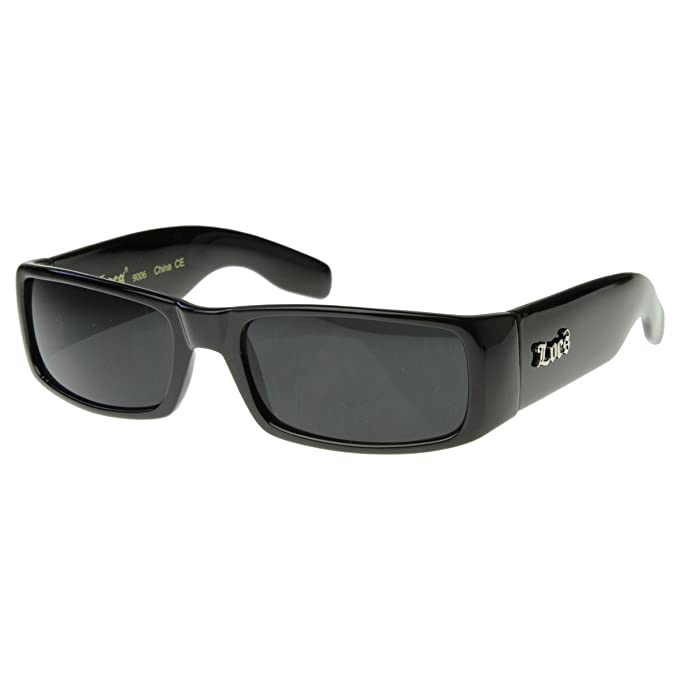 b5e20ab165 Locs Sunglasses Black OG Original Gangster Shades Dark Lens NEW 0106   Amazon.in  Clothing   Accessories