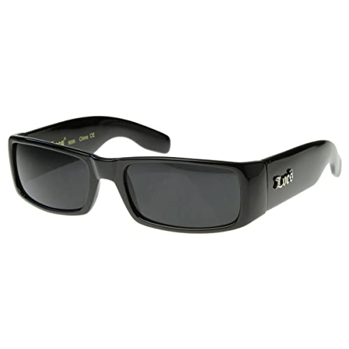 7ba0c8f20d24 Amazon.com  Locs Sunglasses Black OG Original Gangster Shades Dark Lens NEW  0106  Shoes