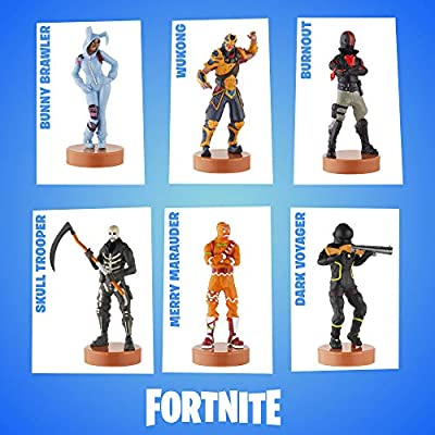 Fortnite Authentic Toys with Stamp, Set of 12 Figures - Nog Ops, Skull Trooper & Other Popular Fortnite Battle Royale Characters – A Series Action Collection 1 of 3 for Boys & Girls: Toys & Games