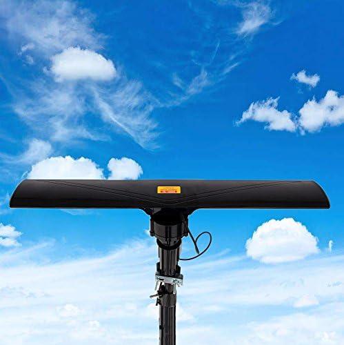 UHF/VHF/FM Radio Antena amplificada HDTV al aire libre, 150 ...