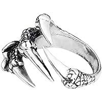 ZYCX123 Halloween goth ring rostfritt stål viking ring punk Dragon Claw ringar metall kjol fingerringar med öppen änd…