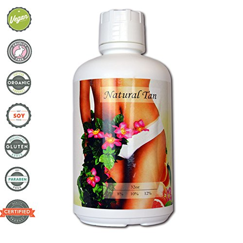 Natural Tan Super Fruit Infused 10% DHA Sunless Airbrush Spray Tanning Solution 32oz