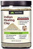 ASUTRA 100% Pure Sodium Bentonite Indian Healing Clay, THERAPEUTIC GRADE, Natural & Safe, Revitalize Skin & Hair, Combat Acne, Clay Face Mask, Deep Pore Cleansing, 2 lbs