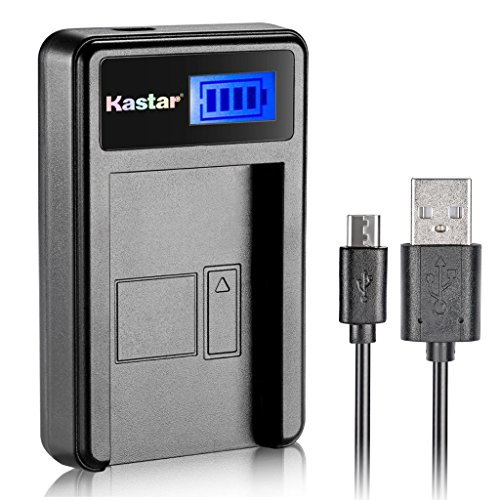 Kastar LCD Slim USB Charger for Olympus LI-10B, LI-12B and Olympus Stylus 300, 400, 500, 600, 800, C-50, 60, 70, 470, 760, 770, 5000, Camedia Series, Sanyo Xacti Series Camera
