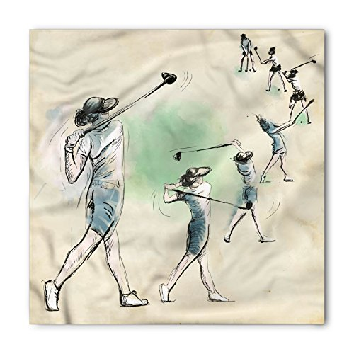 Lunarable Sports Bandana, Golf Swing Sequences Sketch, Unisex Head and Neck Tie
