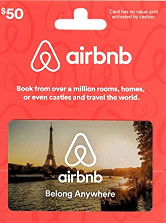 Amazon Com Airbnb 50 Gift Card Gift Cards