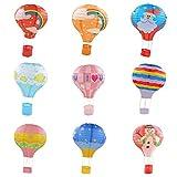 MagiDeal 9Pcs 12inch Hot Air Balloon Paper Lantern Lampshade Wedding Party Home Decor